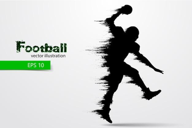 Silueta de un jugador de fútbol. rugby. fútbol americano. ilustración