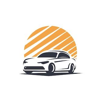 Silueta de logo de coche de ciudad