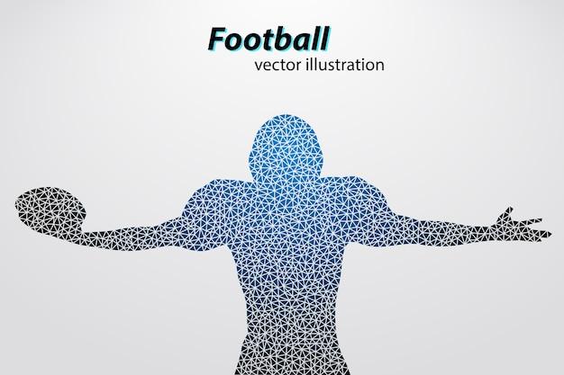 Silueta de mano y casco de fútbol americano