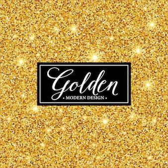 Silueta de marco de etiqueta en el fondo de oro brillo