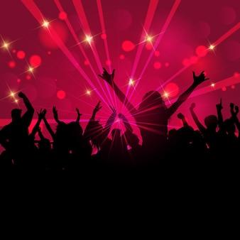 Silueta de una multitud de fiesta