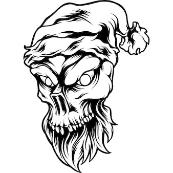 Silueta de navidad de cabeza de calavera