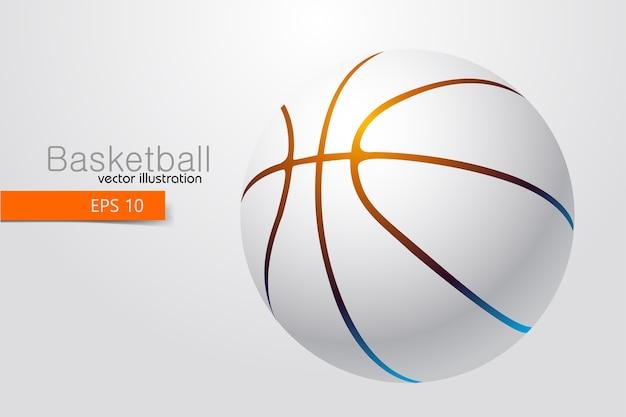 Silueta, de, un, pelota de baloncesto