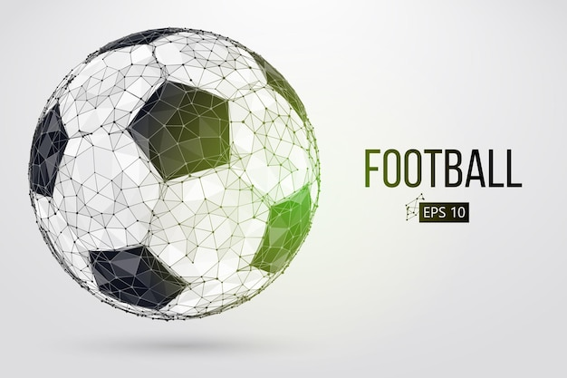 Silueta, de, un, pelota del fútbol