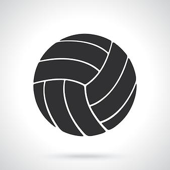 Silueta de pelota de voleibol equipamiento deportivo ilustración vectorial