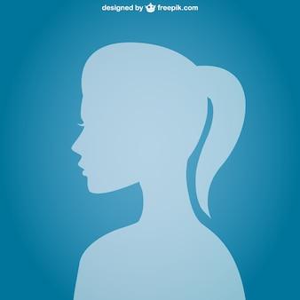 Silueta de perfil de mujer