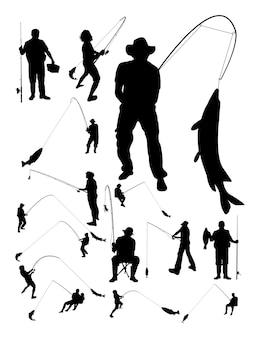 Silueta de pesca