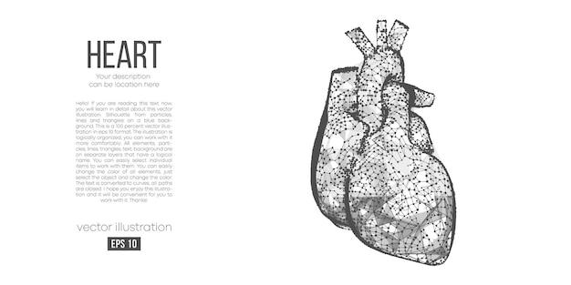 Silueta poligonal abstracta de corazón