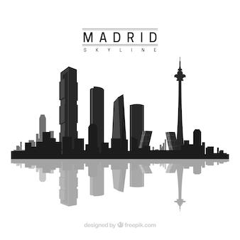 Silueta de skyline de madrid