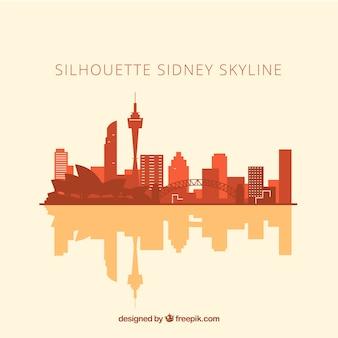 Silueta de skyline de sidney