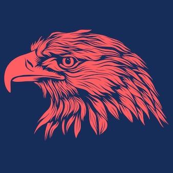 Silueta de vector de águila roja