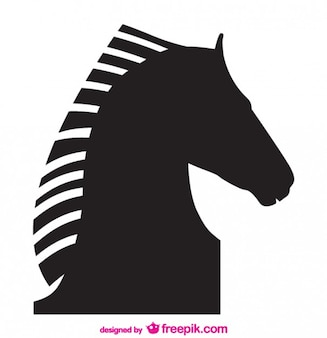 Silueta del vector del diseño del caballo