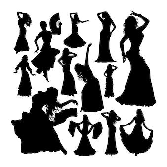 Siluetas de bailarina del vientre