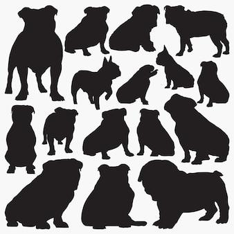 Siluetas de bulldog