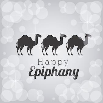 Siluetas de camellos de la epifanía