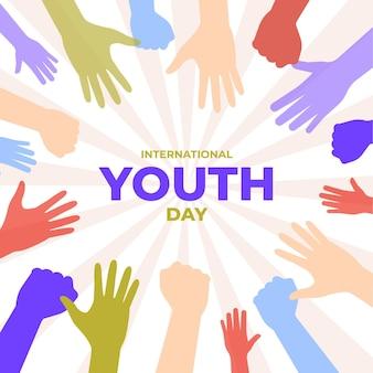 Siluetas para la celebración del día de la juventud.