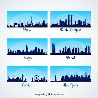 Siluetas de ciudades internacionales