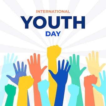 Siluetas para evento del día de la juventud