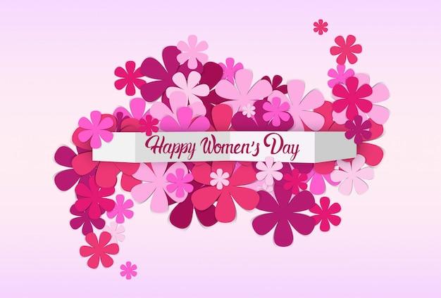 Siluetas de flores fondo del día internacional de la mujer