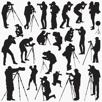 Siluetas de fotógrafo