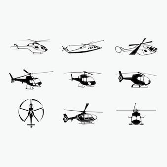 Siluetas de helicóptero