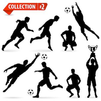 Siluetas de jugadores de fútbol