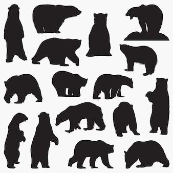 Siluetas de osos polares