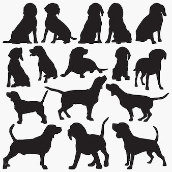 Siluetas de perro beagle