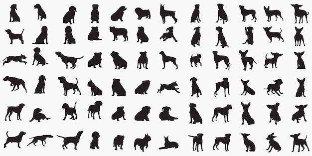 Siluetas de perros