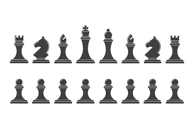 Siluetas de piezas de ajedrez.