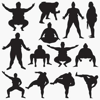 Siluetas de sumo