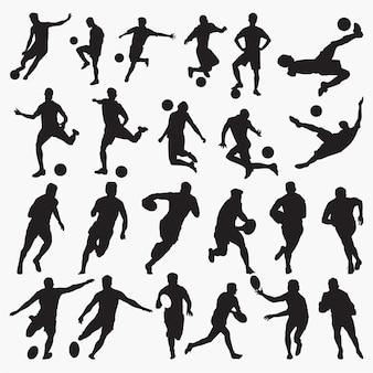 Siluetas de tenis de baloncesto