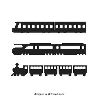 Siluetas tren establecen