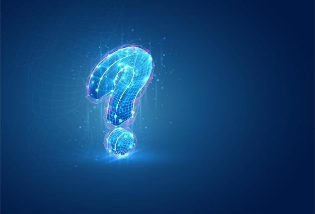 Símbolo 3d, objeto volumétrico sobre un fondo azul.