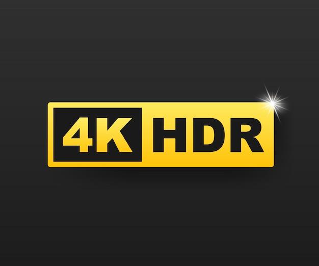 Símbolo 4k ultra hd, marca de resolución 4k de alta definición