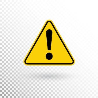 Símbolo de advertencia botón de atención. señal de advertencia. icono de signo de exclamación en estilo plano