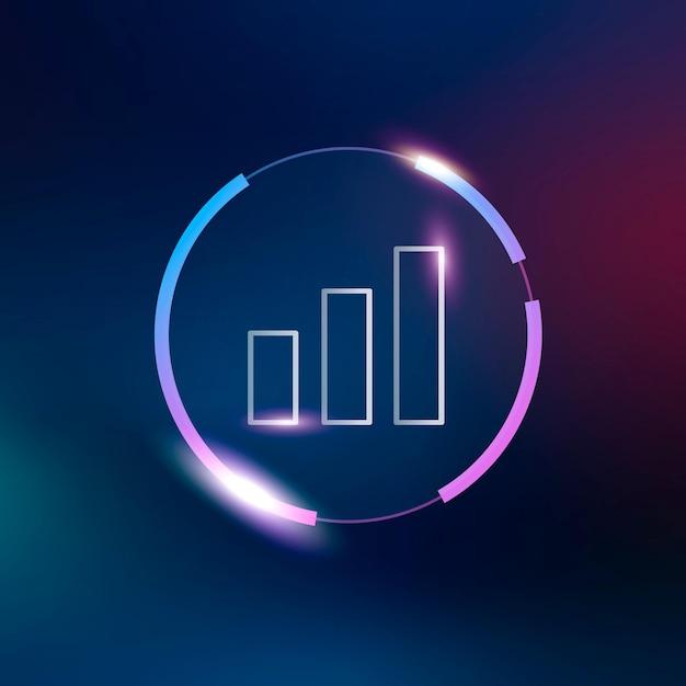 Símbolo de análisis de icono de gráfico de barras