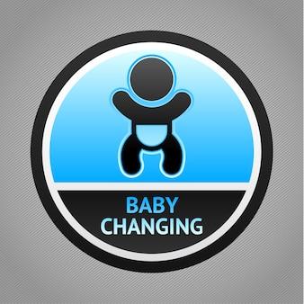 Símbolo bebé cambiando