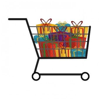 Símbolo de carrito de compras