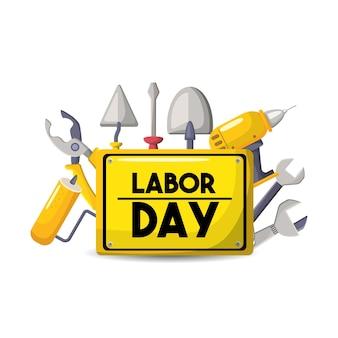 Símbolo de celebración nacional del día del trabajo