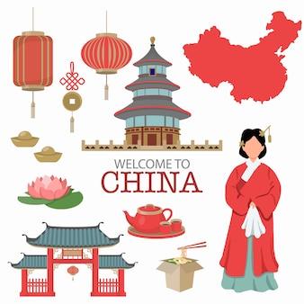 Símbolo de china diseño de concepto de viaje.