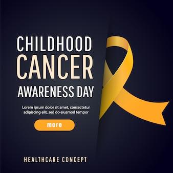 Símbolo de la conciencia del cáncer infantil