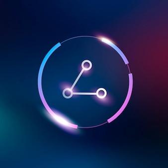 Símbolo de conexión de vector de icono de red