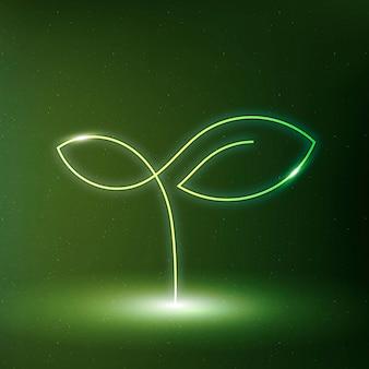 Símbolo de conservación del medio ambiente de árbol icono vector