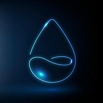 Símbolo de conservación del medio ambiente de vector de icono de gota de agua