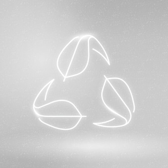 Símbolo de conservación del medio ambiente de vector de icono de reciclaje