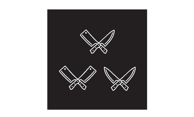 Símbolo de cuchillo y cuchilla