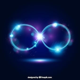 Símbolo de infinito con efecto luminoso