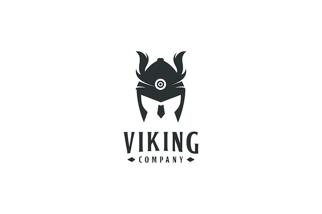 Símbolo y diseño de logotipo de guerrero vikingo