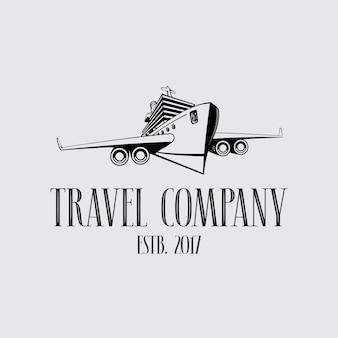 Símbolo de la empresa de viajes